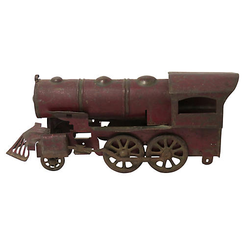 Antique American Metal Locomotive Toy
