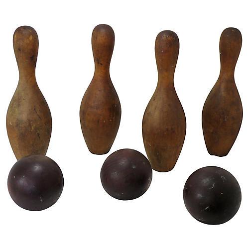 1890s Bowling Game Set