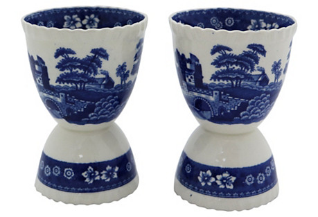 Copeland Spode's Tower Egg Cups, Pair