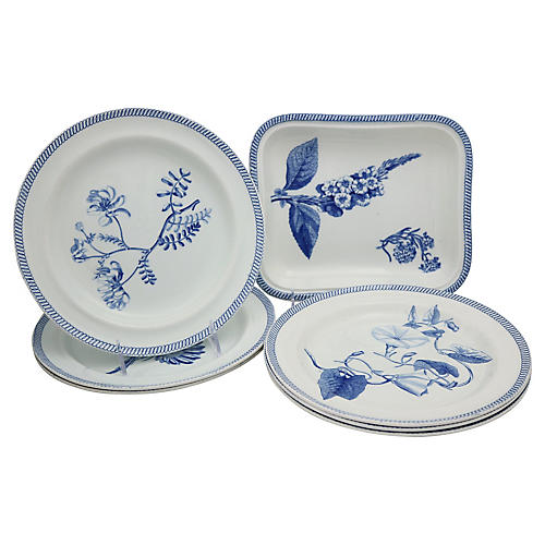 Antique Wedgwood Creamware Set, 7 Pcs