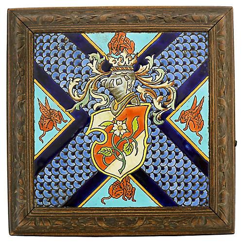 Jules Vieillard Faience & Wood Trivet