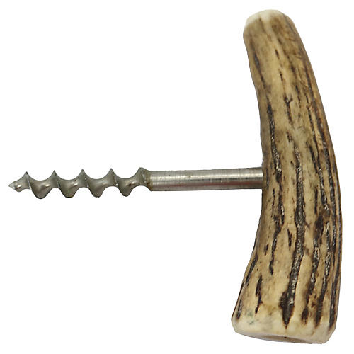 English Antler-Handled Cork Screw
