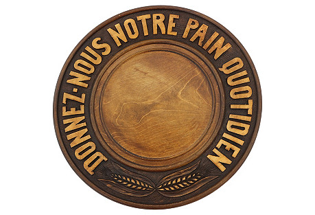 Hand-Carved French Bread Board