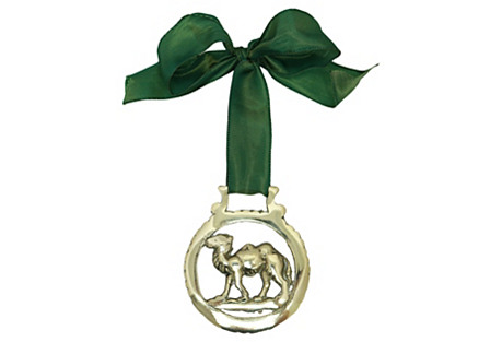 Antique Camel English Brass Ornament