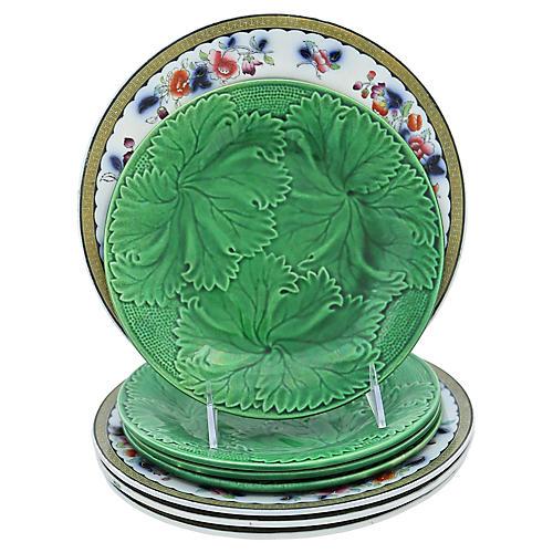 Antique English Plates, 8 Pcs
