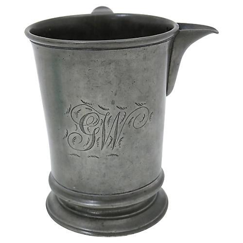 Antique English Pewter Ale Measuring Jug