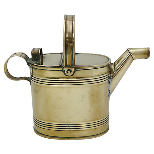 Antique English Brass Watering Can