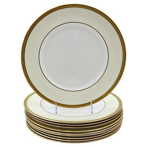 Royal Doulton Gilded Dinner Plates, S/10