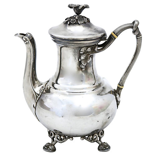 French Christofle Floral Coffeepot