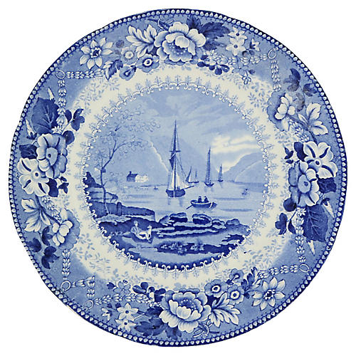 1820s Staffordshire Wall Plate