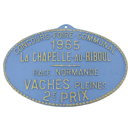 French Agricultural Wall Trophy Plaque