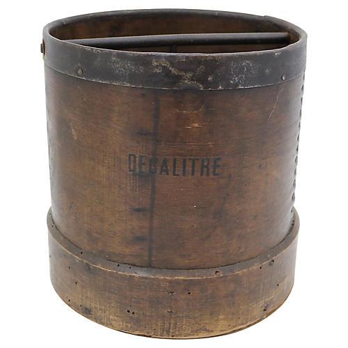 Antique French 10 Litre Grain Bucket