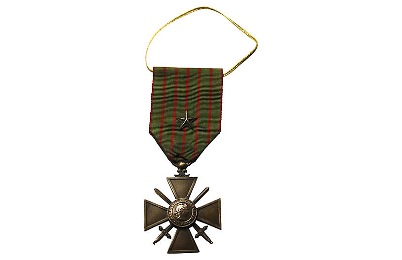 French WWI Croix Guerre Medal Ornament