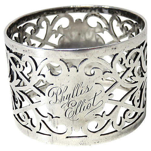 Antique Sterling Silver Napking Ring