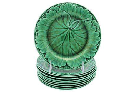 Antique Wedgwood Majolica Plates, S/10