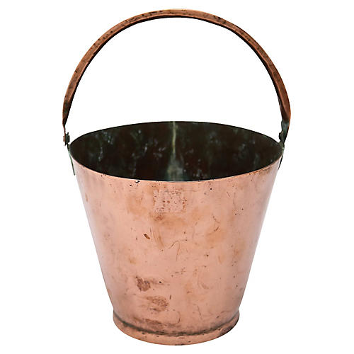 Antique English Copper Bucket