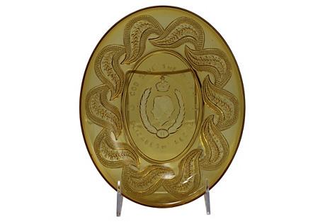 Queen Elizabeth Coronation Amber Dish
