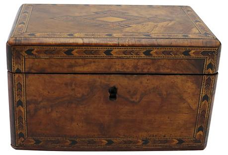 Antique English Tunbridge Inlaid Tea Box