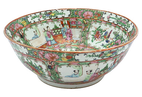 Famille Rose Chinese Export Bowl