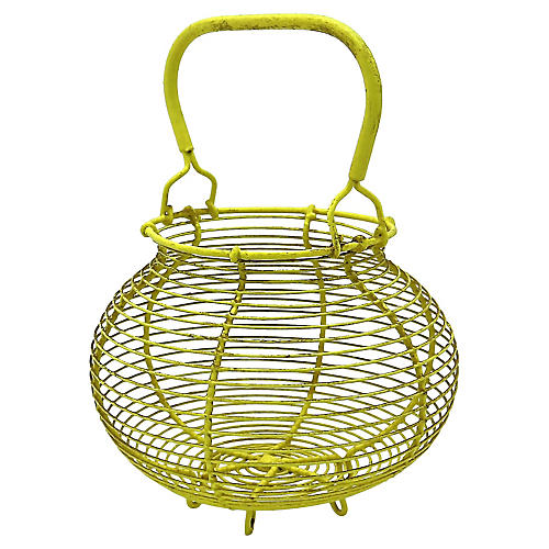 French Yellow Egg Basket