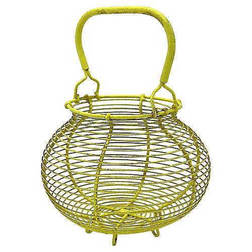 French Yellow Egg Basket