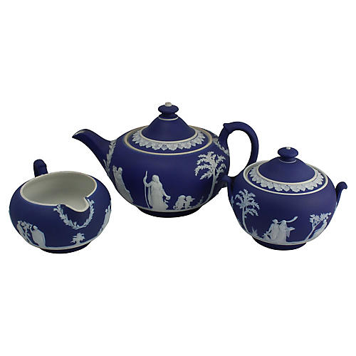 Antique Wedgwood Tea Set, 3 Pcs