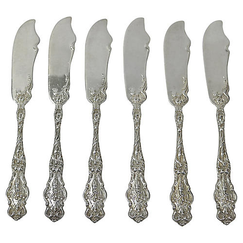 Wallace Sterling Butter Knives, S/6