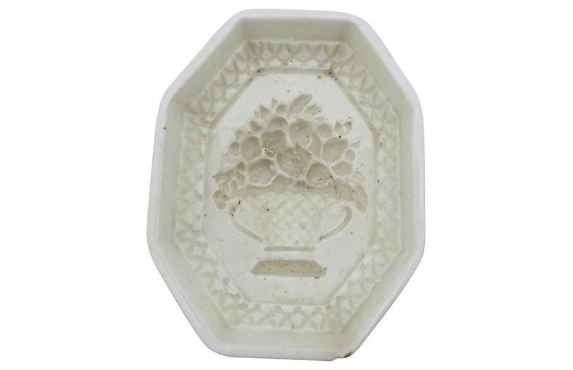 Antique Spode Creamware Jelly Mold