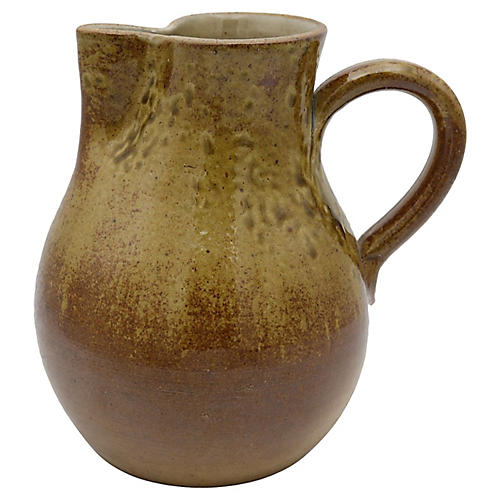 Antique French Stoneware Water Jug