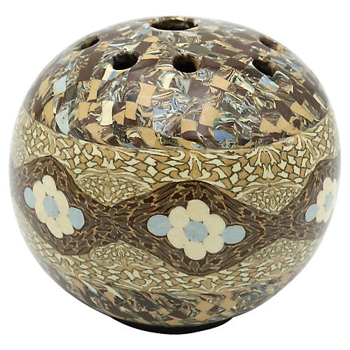 French Art Pottery Flower Frog