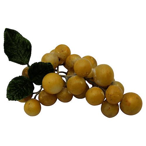 1960s Italian Alabaster Grape Cluster