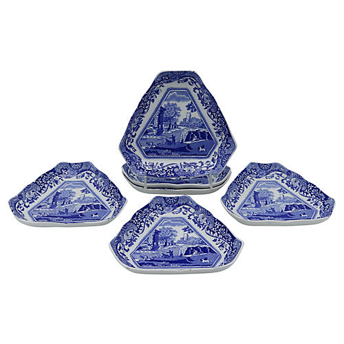 Spode Italian Hors d'Oeuvres Plates, s/6
