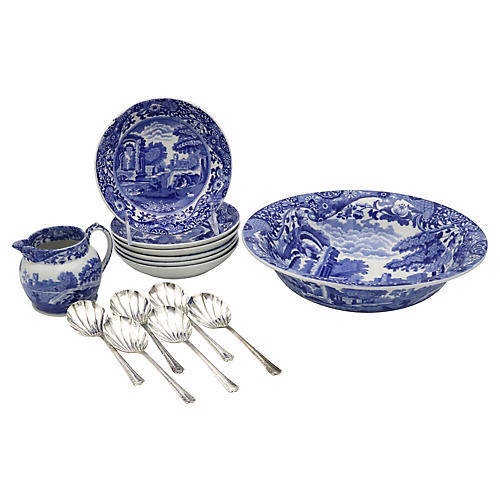 Spode Italian Fruit Set, 14Pcs