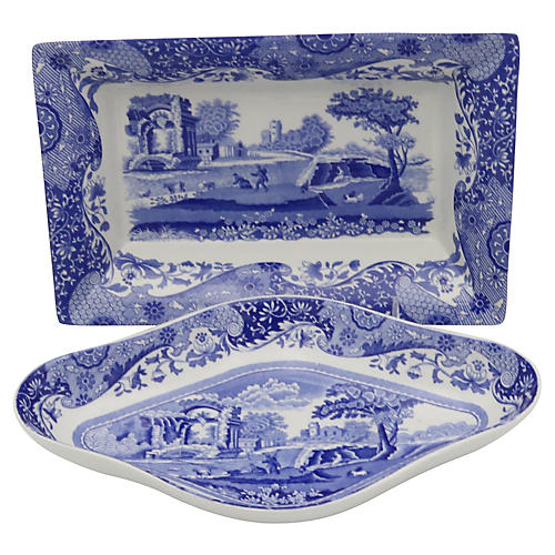 Spode Italian Serving Dishes, Pair