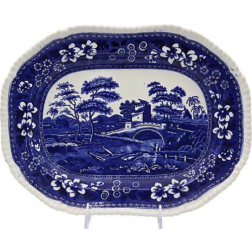 Antique Spode Tower Pattern Platter