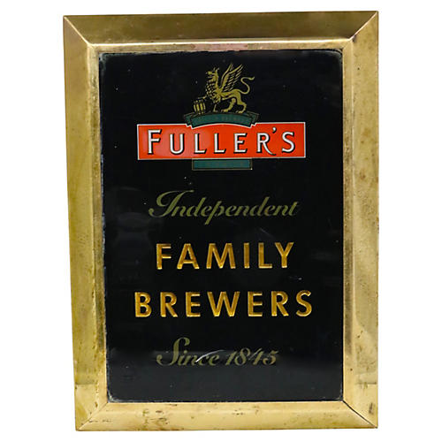 English Fuller's Brewery Pub Sign