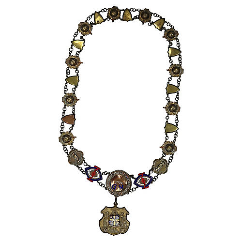 English Oddfellows Fraternal Collar