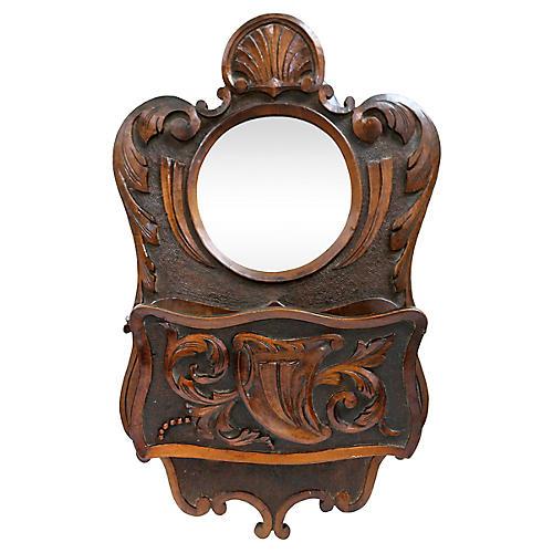 Antique Mirror & Pocket