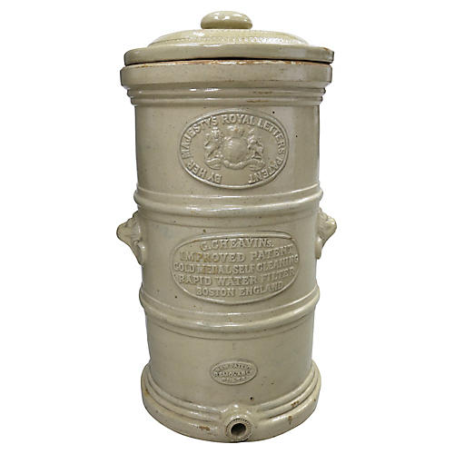 Antique English Stoneware Water Filter