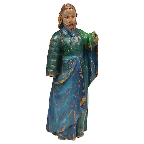 Antique Hand-Carved Santos Figure