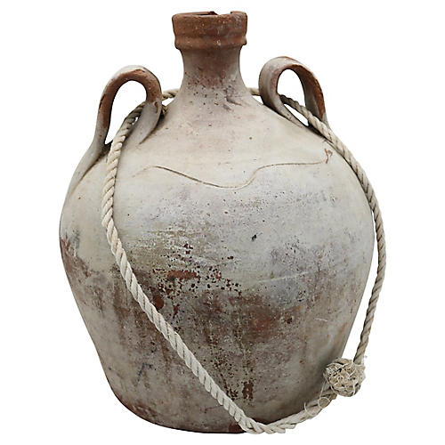 Antique French Terracotta Water Jug