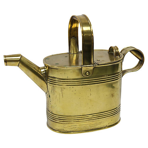 Antique English Brass Water Can