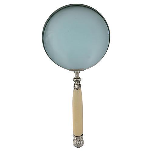 Oversize Ivorine Magnifying Glass