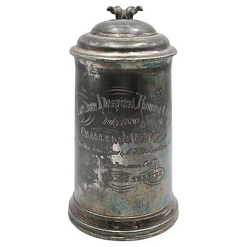 Antique English Rowing Team Trophy, 1880