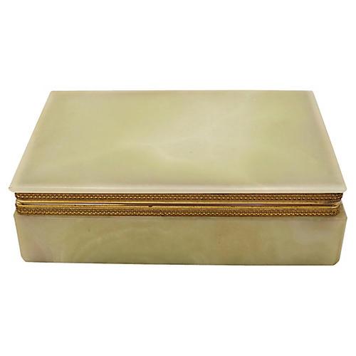 Mid-Century Natural Onyx Cigarette Box