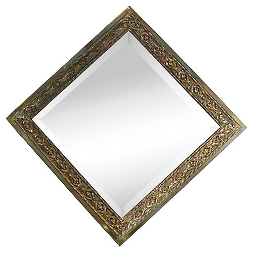 1930s English Gilded Wall Mirror