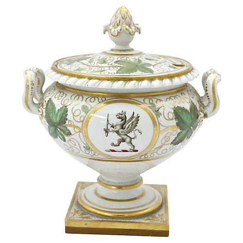1820s Worcester Family Crest Tureen