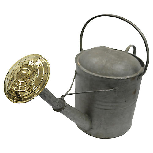 Large English Galvanized Watering Can