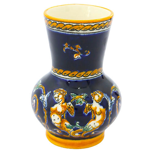 French Gien Faience Posy Vase