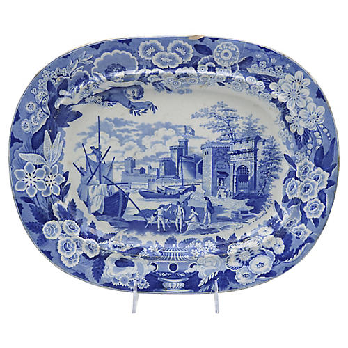 1820s Staffordshire Platter w/Cherubs